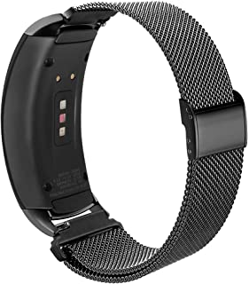 OenFoto Compatible Gear Fit2 Pro/ Fit2 Band, Metal Stainless Steel Replacement Accessories Strap Metal Lock Samsung Gear Fit 2 Pro SM-R365/SM-R360 Smartwatch
