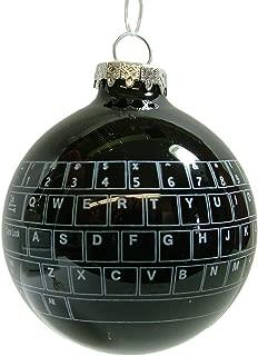 New Glass Black Keyboard Bulb I.T Computer Geek Nerd Gamer Christmas Tree Ornament