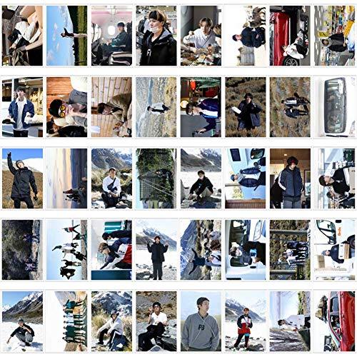 Saicowordist 40 hojas Kpop Bangtan Boys Bon Voyage Season juego de tarjetas LOMO en caja de hierro con caja de cartulina HD imgenes pequeas tarjetas Polaroid Photocards A.R.M.Y regalo caliente