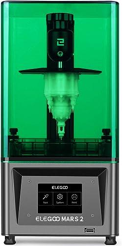 ELEGOO Mars 2 Mono MSLA 3D Printer UV Photocuring LCD Resin 3D Printer with 6.08 inch 2K Monochrome LCD, Printing Siz...