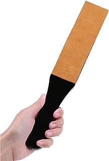 Durable Leather Strop Straight Belt Razor Sharpener Polishing Tool, Barber Salon Double Size Thicken Shaver Sharpening Boa...