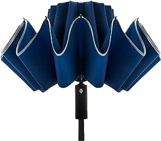 【ALSINA】 折りたたみ傘 メンズ ワンタッチ自動開閉 大きい 軽量 撥水加工 逆さ傘 耐風 梅雨 12本
