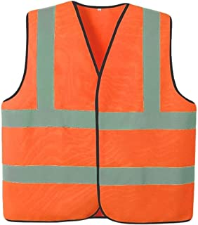 Reflective vests High Visibility Vest Reflective Vest, Safety Visible Safety Vest 2 Pieces Of Light Breathable Night Unifo...