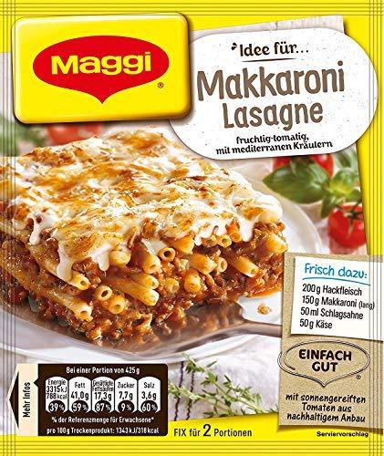 Maggi fix & frisch für Makkaroni-Lasagne, 40er Pack (40 x 40 g)