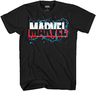 Marvel Comics Men's Paint Splatter Marvel Logo T-Shirt