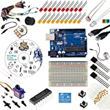 Includes Aduino Uno Rev3 Board This is the ultimate Aduino Uno kit enough to get you started with hundreds of Aduino projects Bread Board -- Holder -- Jumper Wires -- USB Cable -- LEDs -- DC Motor -- Small Servo -- Relay Includes a total of over 190 ...