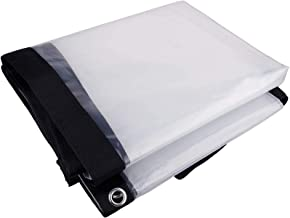 Dekzeilen Transparant Doorzichtig 6mX10m, Tarpaulin Heavy Duty Waterproof, Outdoor Dik Plastic Poly Tarp met Grommets en V...