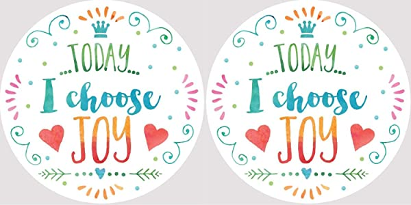 Today I Choose Joy Inspirational Car Coasters Set Of 2
