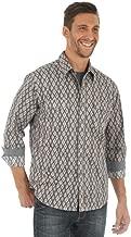 Wrangler Men's Retro Premium Aztec Print Long Sleeve Western Shirt - Mvr435m