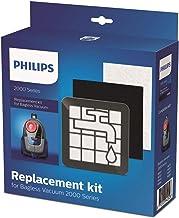Philips XV1220/01, reserve-filterset voor zakloze stofzuiger serie 2000, zwart/wit
