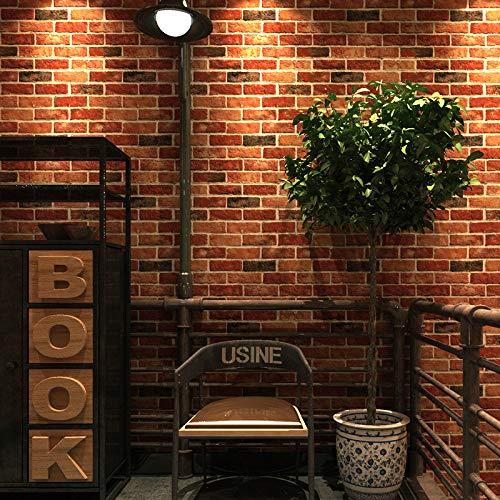 Sticker Magnetische Pijn Sticker Hond Sticker Kantoor Vinyl Behang hot Pot Restaurant Restaurant Koffie Shop Antieke Baksteen Behang 53cm*1000cm 2