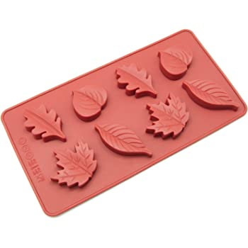 Silicone Chocolate Candy Molds [Maple Leaf, 8 Cup] - Non Stick, BPA Free, Reusable 100% Silicon & Dishwasher Safe Silicon - Kitchen Rubber Tray For Ice, Crayons, Fat Bombs and Soap Molds