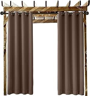 Extra Length Outdoor Curtain Chocolate 84