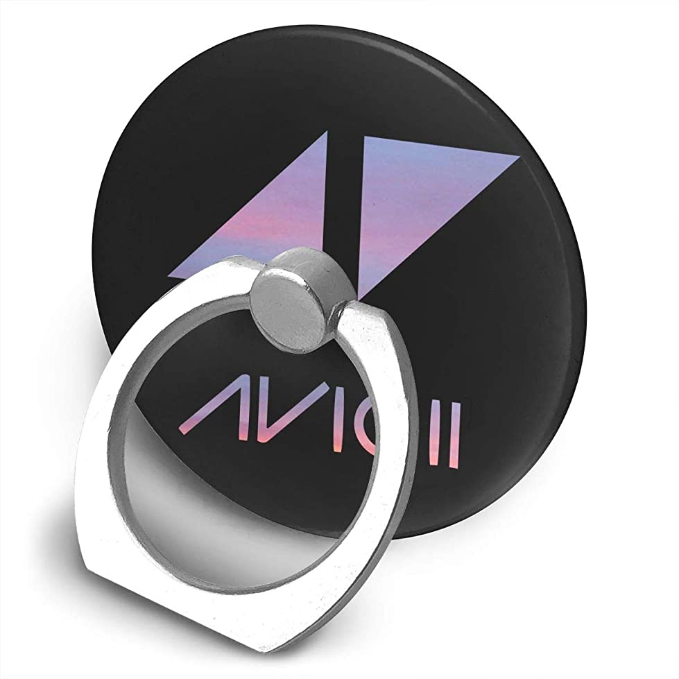 バックアップり多数のアヴィーチー Avicii プリント リングホルダー ホールドリング 丸型 スタンド機能 落下防止 360度回転 IPhone/Android各種他対応