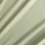 Stoff Baumwollstoff Baumwolle karo kariert grün weiß 2mm