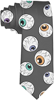 Mens Eyeballs Necktie - Classic Fashion Gentleman Gift Tie Wedding Party Necktie