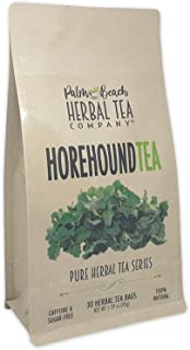 Horehound Tea - Pure Herbal Tea Series by Palm Beach Herbal Tea Company (30 Tea Bags) 100% Natural