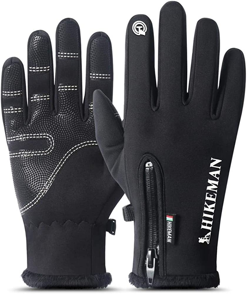Laiyuan Winter Warm Touchscreen Gloves - Windproof Waterproof Anti-slip Gloves - Cold Weather Gloves for Men and Women