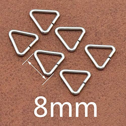 Kamas 100pcs/lot Jewelry Making Findings Triangle Open Jump Rings & Split Rings DIY Handmade Jewelry Stainless Steel Connector - (Color: 8mm)