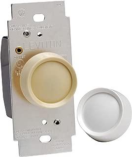 Leviton 6602-IW Trimatron 600W Electro Mechanical Incandescent Non-Preset Rotary Dimmer, Single Pole, White/Ivory