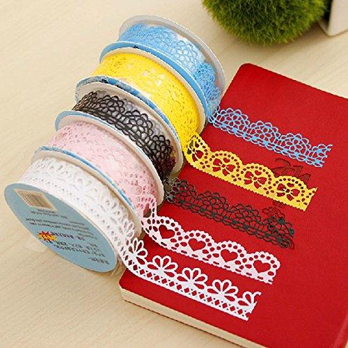 Bluelover Decoratieve kant tape uitgehold kant plakband zelfklevende stickers