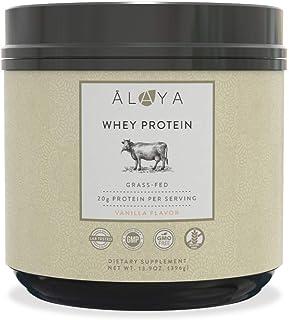 Alaya Naturals - Grass Fed Whey Protein Powder - Vanilla Flavor, All Natural, Hormone Free - 20g Protein per Serving - Non...