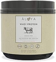 Alaya Naturals - Grass Fed Whey Protein Powder - Vanilla Flavor, All Natural, Hormone Free - 20g Protein per Serving - Non-GMO, rBGH Free, Gluten Free - Great Source of BCAA