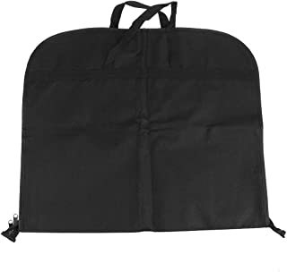 TOPBATHY 2PCS Garment Bag Suit Cover Portable Breathable Dress Cover Bag for Suits Gusseted Dress (Black)