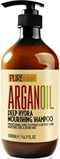 Moroccan Argan Oil Shampoo SLS Free Sulfate Free, for Damaged, Dry, Curly or Frizzy Hair - Thickening for F...
