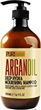 Moroccan Argan Oil Shampoo SLS Free Sulfate Free, for Damaged, Dry, Curly or Frizzy Hair - Thickening for Fine / Thin Hair...