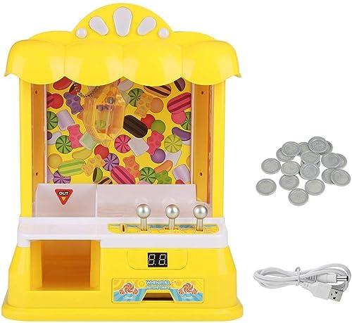 tienda de venta en línea Zerodis- Maquina Peluches,Juego de Dulces Dulces Dulces de muñeca Familiar. Máquina de muñeca, Juguete eléctrico, Cable USB.(amarillo)  calidad auténtica
