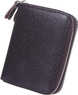 Cckuu Women Short PU Leather Wallet Card Holder Small Purses Clutch Zip Design
