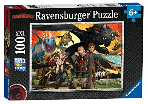 Ravensburger Kinderpuzzle 10918 - Dragons - Drachenfreunde - 100 Teile