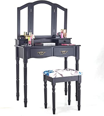 Amazon.com: Vanity Set Makeup Vanity Desk Dressing Table ...