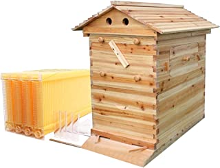 Honey Hive Beekeeping Beehive House+7PCS Auto Beehive Frame Comb Bee Hive Boxes