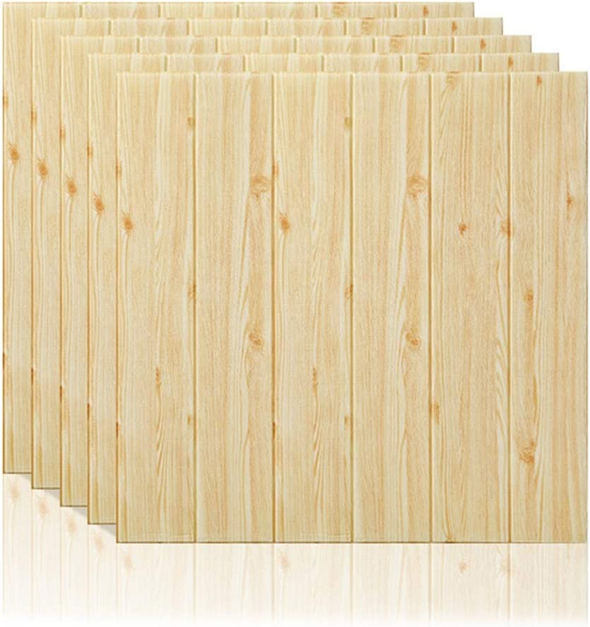 3D Wooden Wall Stickers Wall Paper Self-Adhesive Panel Decal PE