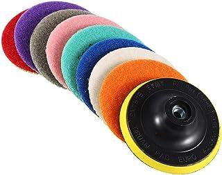comprar comparacion Almohadillas de pulido de diamante de 4 pulgadas / 100 mm almohadillas de pulido húmedas y secas con discos adhesivos para...