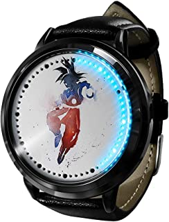 Marvel Hero Ink Series, Reloj LED Reloj de Cuarzo analógico Resistente al Agua Reloj de Correa de Cuero de Acero Inoxidabl...