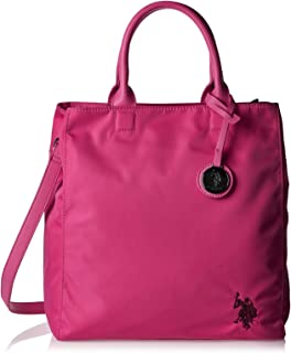 U.S. Polo Assn. Biuto0269Wip601 Tall Shopping Bag For Women - Leather, (Pink (Fuchsia))