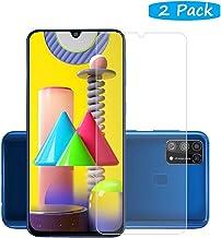 واقي شاشة من فان تينج لهاتف سامسونج جالكسي M31 ذو صلابة عالية ولا يكون فقاقيع ومقاوم للغبار وسهل التركيب - لون شفاف (عبوتين) Samsung Galaxy M31 Samsung Galaxy M31