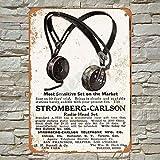 No/Brand 1915 Stromberg-Carlson Radio Head Set Cartel de Chapa Metal Advertencia Placa de Chapa de Hierro Retro Cartel Vintage para Dormitorio Pared Familiar Aluminio Arte Decoración