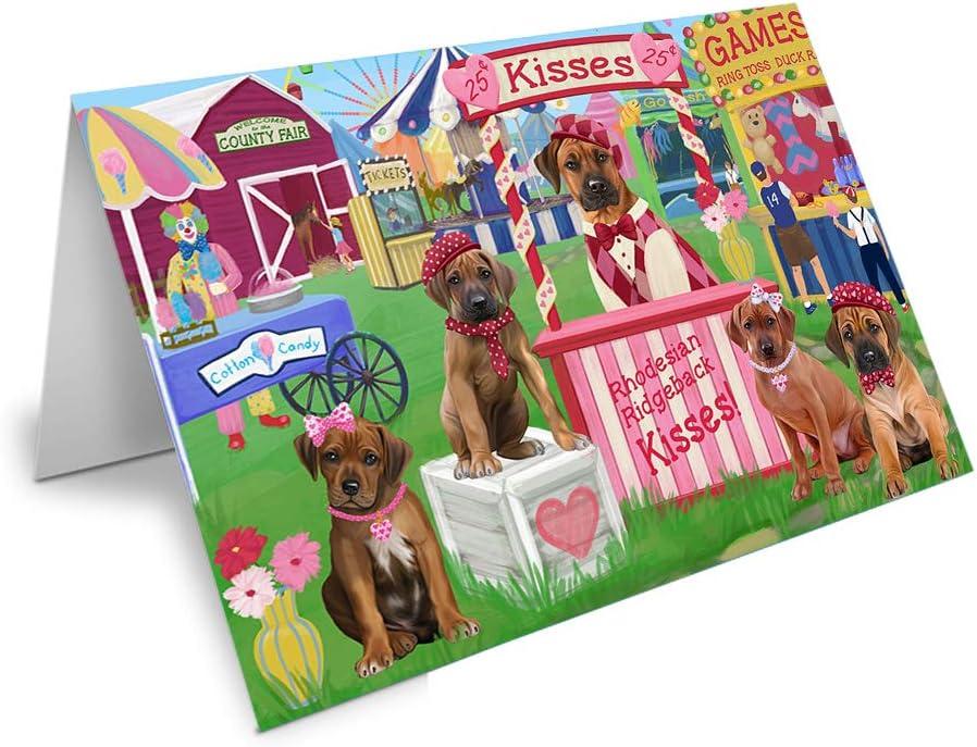 Carnival Kissing Booth Rhodesian Philadelphia Mall Ridgebacks Limited time for free shipping Greeting Dog GC Card