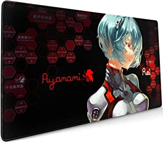 Anime Evangelion Ayanami Rei 15.8x35.5 in-inch Large-Scale Competitive Game&Office&Console Mouse Pad