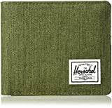 Herschel Supply Roy + Coin XL RFID Accessori da viaggio- Portafoglio bi-fold, Olive Night Crosshatch/Olive Night, Taglia unica Uomo