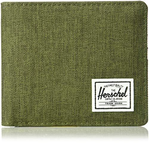 Herschel Herren Roy + Coin XL RFID Zweifalten-Geldbörse, Olive Night Crosshatch/Olive Night, Einheitsgröße