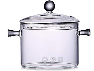 وعاء زجاجي 1350 مل من بوكل، مع مجموعة أواني طهي زجاجية يدوية الصنع، حاوية مثالية لأغذية الأطفال، الحليب، الصحوص، الحلويات،...
