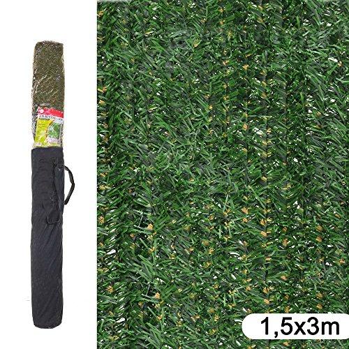 Ldk Garden 82191 - Seto artificial de ocultación para jardín, 300 x 150 x 20 cm, color verde y marrón