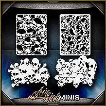 Mini Skull Background 1 AirSick Airbrush Stencil Art Template Design