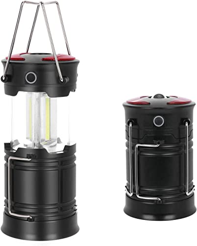 new arrival Portable wholesale Camping Lantern Flashlight, Collapsible LED Camping Lantern, Battery Powered Portable Emergency high quality Flashlight for Outdoor Camping, Hiking, Night Fishing Lantern, Pack of 2 outlet sale