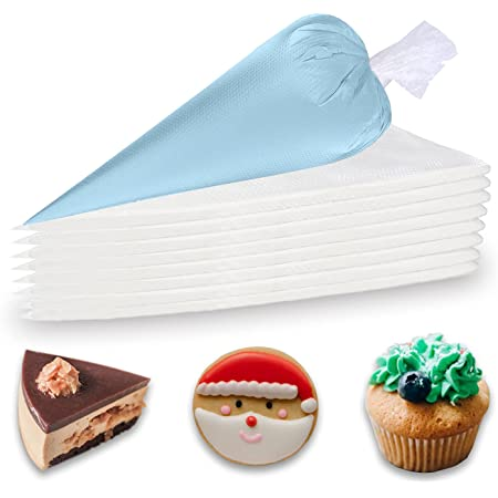 SOSTORE Piping Bags Disposable - Thickened 100 Pieces 14 Inch Heavy Duty Anti Burst Piping Pastry Bags, for Cream Icing Frosting Cookie Cake Decorating Supplies